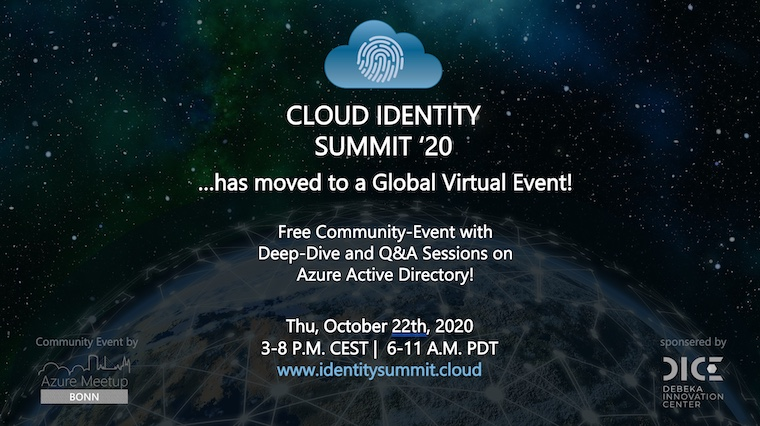 Cloud Identity Summit 2020 goes virtual...and global!