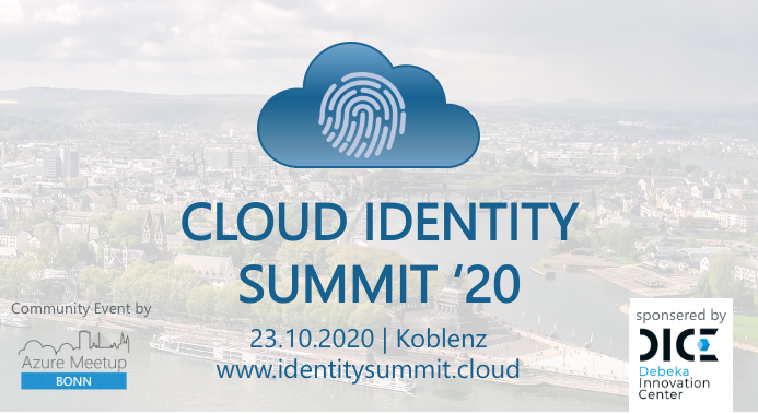 Community Event: Cloud Identity Summit am 23.10.2020 in Koblenz